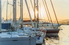Port pour les bateaux image stock