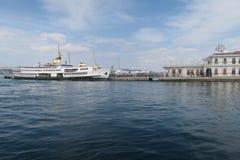 Port at Prince Island Buyukada in the Marmara Sea, near Istanbul, Turkey royalty free stock image