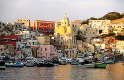 Port of Procida. Stock Images