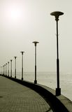 The port promenade Jodkrante Neringa Lithuania Stock Image