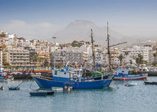 Port and the promenade of Los Cristianos . Royalty Free Stock Photos