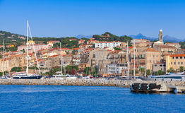 Port of Propriano landscape, Corsica, France Royalty Free Stock Photo