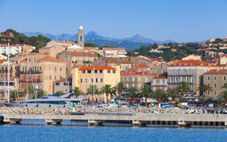 Port of Propriano, South of Corsica, France. Port of Propriano cityscape, South region of Corsica, France Royalty Free Stock Photography