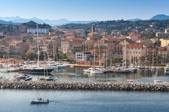 Port of Propriano, South region of Corsica. France Stock Photos