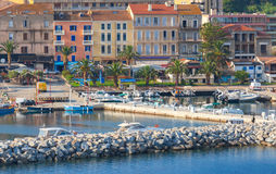 Port of Propriano, South region of Corsica island. France Stock Images