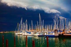 Port przed burzą Fotografia Stock