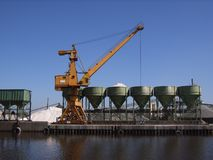 port przemysłowe Obraz Royalty Free