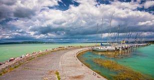 Port przy jeziornym Balaton Fotografia Stock