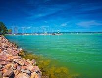 Port przy jeziornym Balaton Obraz Royalty Free