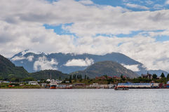 Port Puerto Chacabuco, Chile Royalty Free Stock Images