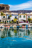 Port In Puerto de Mogan, Gran Canaria, Spain Royalty Free Stock Images