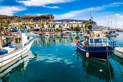Port In Puerto de Mogan, Gran Canaria, Spain Royalty Free Stock Photography