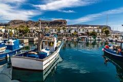 Port In Puerto de Mogan, Gran Canaria, Spain Stock Image