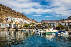 Port In Puerto de Mogan, Gran Canaria, Spain Stock Images