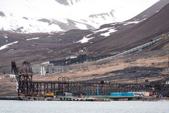 Port of Pyramiden Stock Images