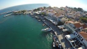 Port of Pythagorio in Samos Island (1) stock video footage
