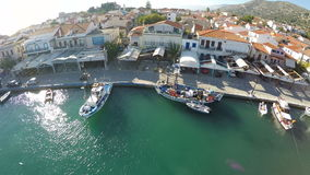 Port of Pythagorio in Samos Island (3) stock video footage