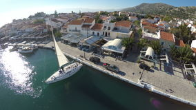 Port of Pythagorio in Samos Island (4) stock footage