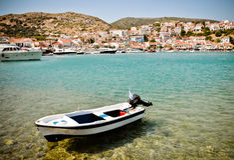 Port of Pythagorion, Samos, Greece Stock Photo