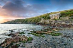Port Quin dans les Cornouailles Image libre de droits