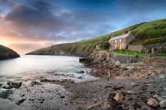 Port Quin i Cornwall Fotografering för Bildbyråer