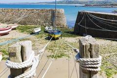 Port Racine är den minsta porten av den Frankrike Cotentin penisulaen Royaltyfri Fotografi