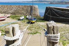 Port Racine is the smallest port of France Cotentin penisula Royalty Free Stock Photography