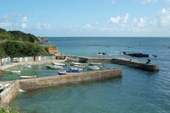 Port Racine (Normandy). Port-Racine is the smallest port in France (Cotentin penisula stock image