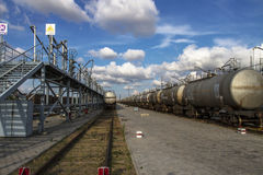 The port rail loading and unloading Chemical liqui Royalty Free Stock Photos