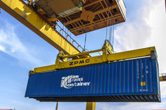 Port railway container facelift Royalty Free Stock Photos
