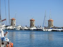 Port of Rhodes. stock image