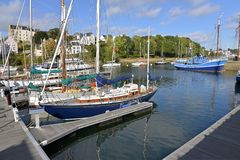 Port of Douarnenez in France royalty free stock photos