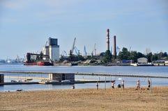 Port of Riga Royalty Free Stock Photography