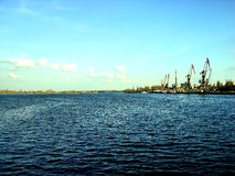Port on river Stock Photography