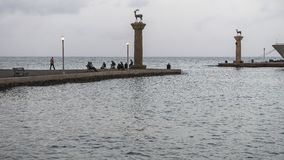 Port in Rodhes stock photography