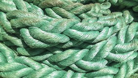 Port rope. Mooring rope. Rope for fastening ships and cargo Stock Image