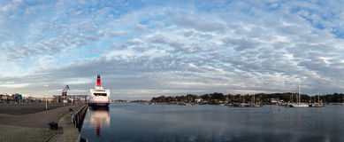 Port in Rostock Stock Photos