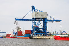 Port of Rostock. Germany Royalty Free Stock Photos