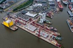 Port Rotterdam Fotografia Royalty Free