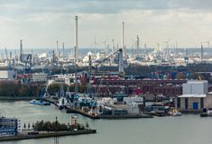 The Port of Rotterdam Stock Image
