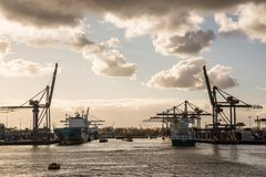 The Port of Rotterdam Stock Photo