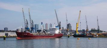 Port of Rotterdam, largest port in Europe Royalty Free Stock Photography