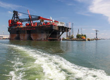 Port of Rotterdam, largest port in Europe Stock Images
