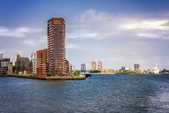 In the port of Rotterdam, Netherlands Stock Image