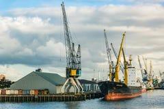 The Port of Rotterdam stock image