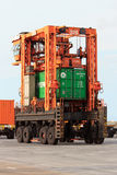 Port mobile container spreader Stock Photography