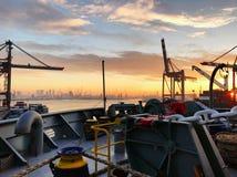 Port of Rotterdam Ship royalty free stock photo