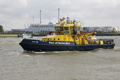 Port of Rotterdam Tug Boat on River Maas Royalty Free Stock Photo