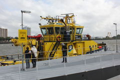 Port of Rotterdam Tug Boat on River Maas Royalty Free Stock Photography