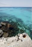 port rouillé Arrecife teguise Lanzarote de yacht en métal de l'Espagne Photographie stock